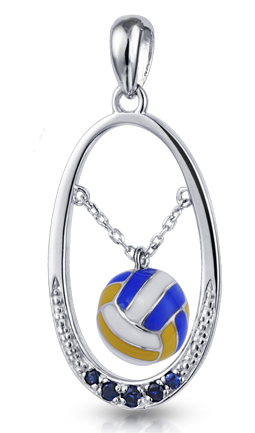 Free-Flowing Volleyball Pendant